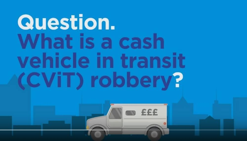 LAUNCH OF CHRISTMAS CASH IN TRANSIT ROBBERY CAMPAIGN